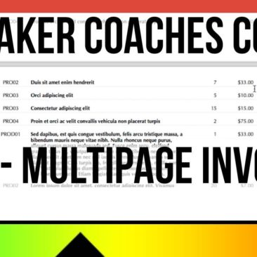 FileMaker Coaches Corner - Tip 3 - Multipage Invoices - Multipage Printing